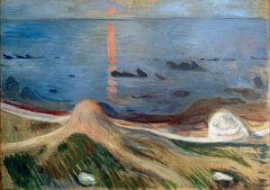 Painted at Asgardstrand 1892 - EDVARD MUNCH